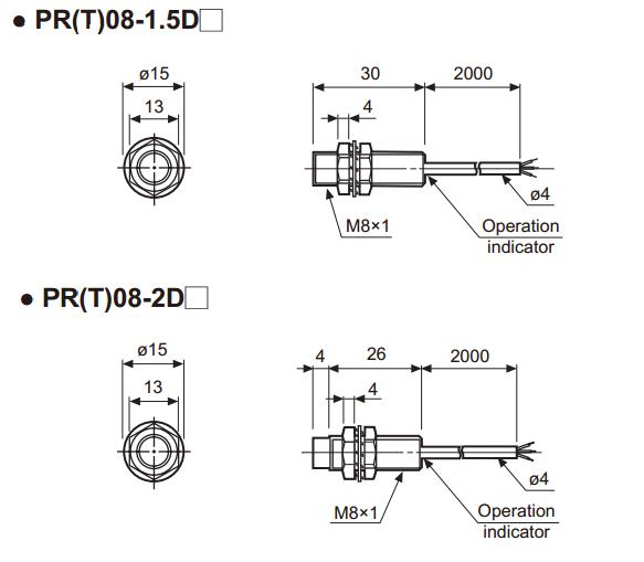 Sensor Indutivo PR08-1.5DN2 Autonics