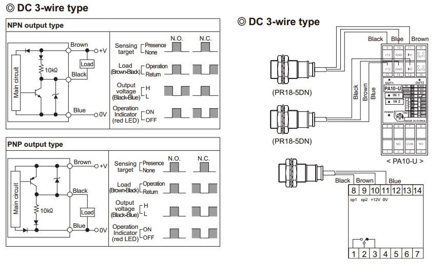 Sensor Indutivo PR08-2DP2 Autonics