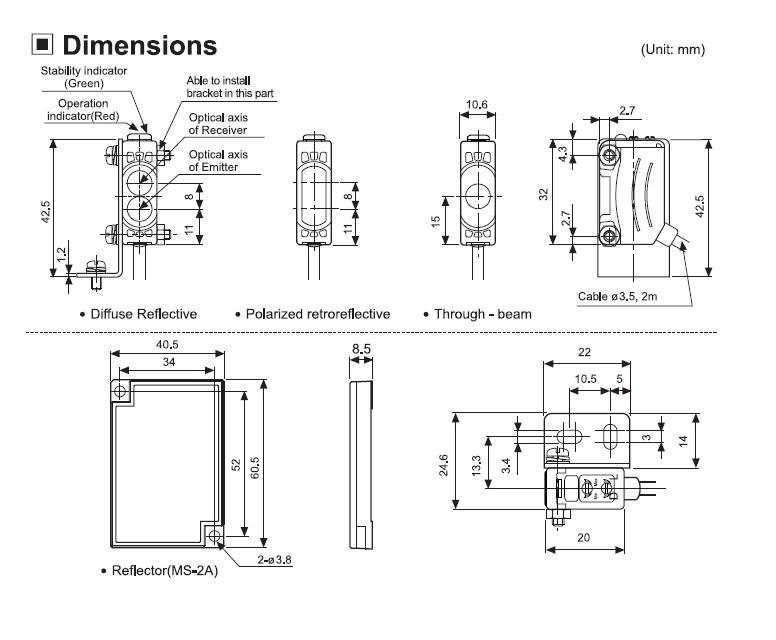 Sensor BJ3M-PDT-P Autonics