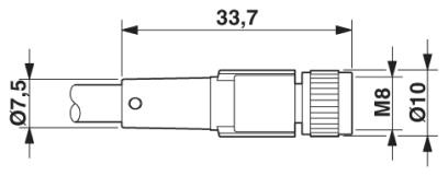 Cabo SAC-3P- 5,0-PUR/M 8FS - 1669828