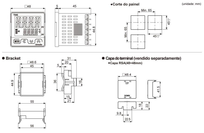 TX4S Controlador de Temperatura Autonics