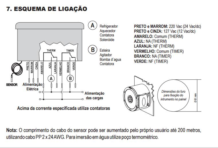 MT-516C Termostato Digital Full Gauge