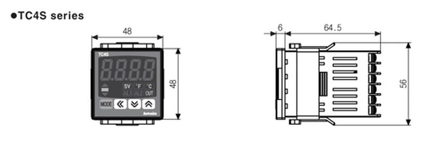 TC4S-22R Controlador de Temperatura Autonics