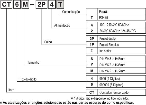 CT6S-1P4 Contador/Temporizador Bivolt Autonics