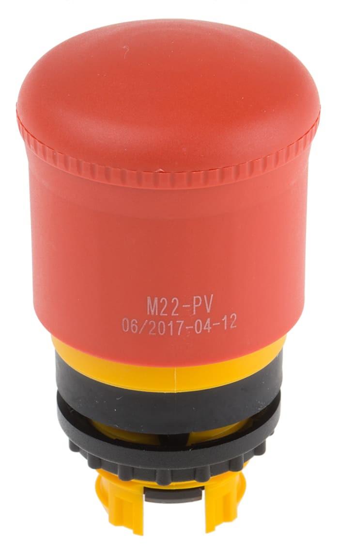Botão de Emergência Frontal Bate/puxa M22-PV